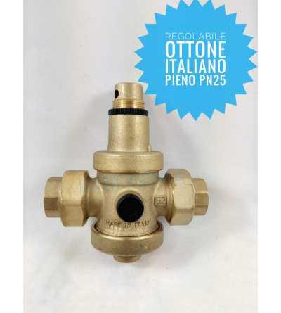 Valvola di riduzione della pressione valvola di riduzione da 1//2 in ottone valvola di riduzione della pressione dellacqua con misuratore del flusso dacqua regolabile