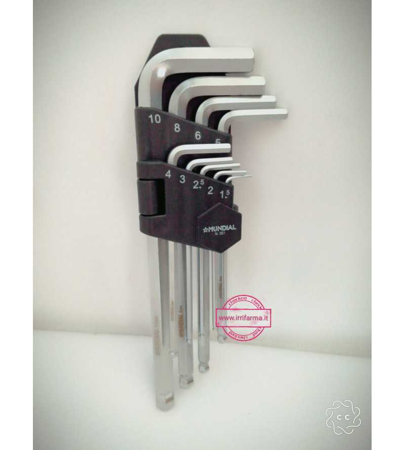 Set 9 chiavi esagonali...