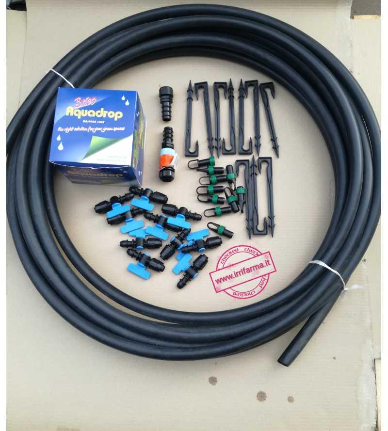 kit impianto irrigazione orto goccia manichetta fragole ortaggi