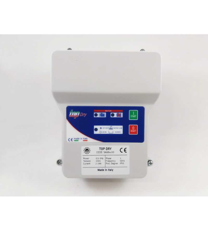 Quadro elettrico TOP DRY Salupo per elettropompa 220V avviamento diretto motore pompa autoclave pozzo sommersa per controllo marcia a secco (cosφ)