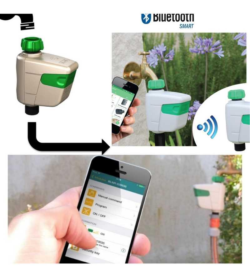 programmatore bluetooth BL NR 1 zona da rubinetto Solem timer irrigazione nebulizzazione prato orto siepi vasi balcone fiori