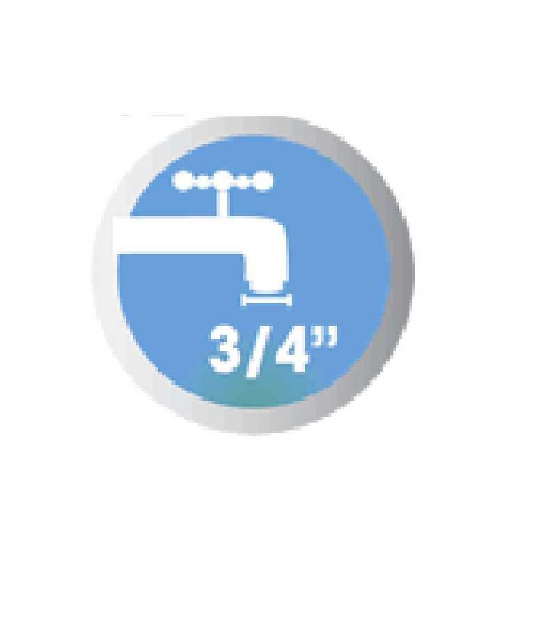 """Raggi e distanze ugelli Testina irrigatore a battente impact 3/4"""" irrigazione prato giardino campagna 8705 CLABER"""