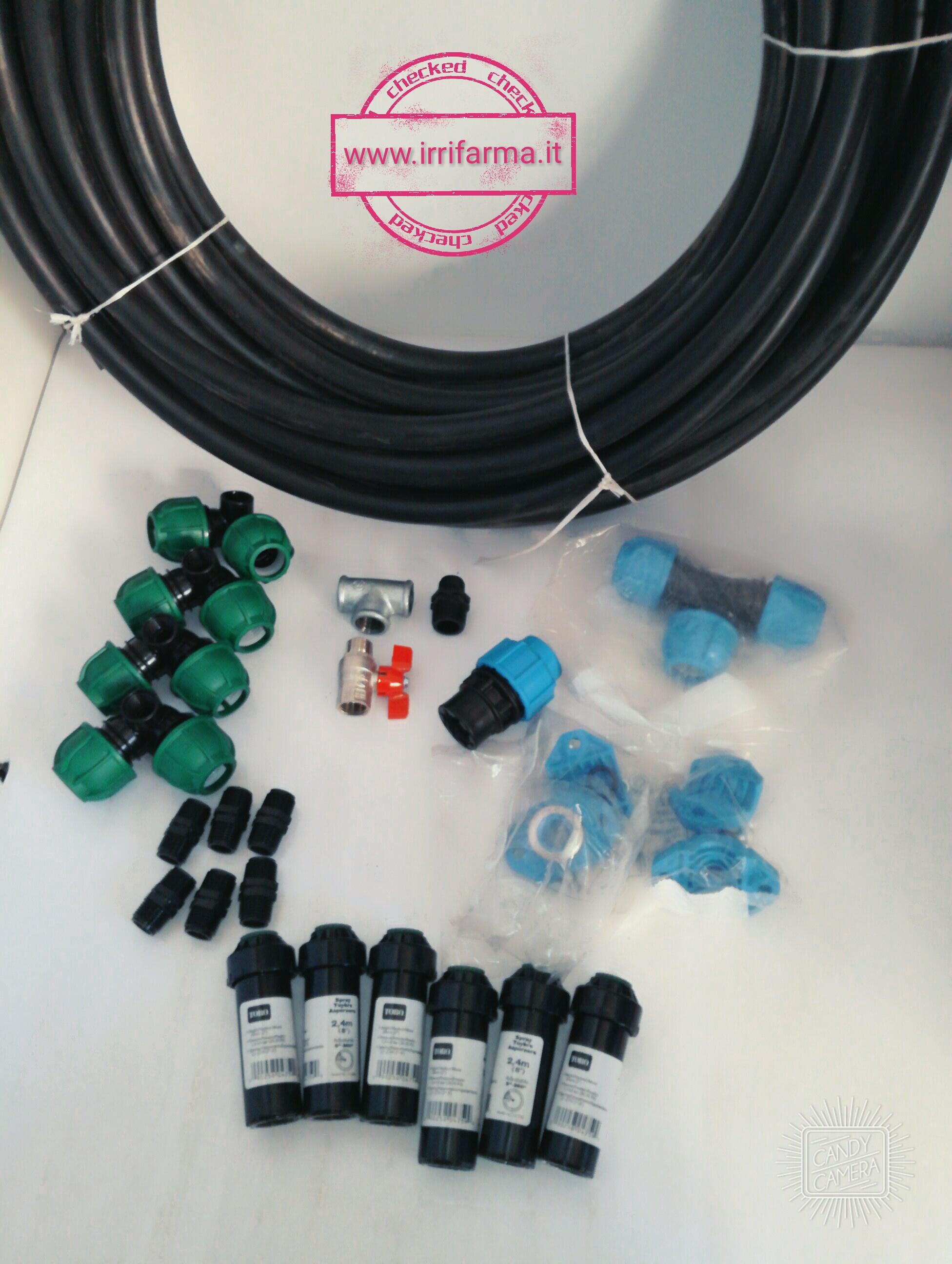 Starter Kit Irrigazione Interrata X Giardino Da 100 Mq Hunter Gf Irritec