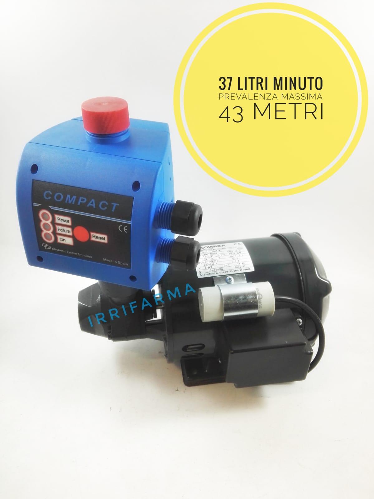 Eletropompa Lowara Pm16 con presscontrol per piccole irrigazioni o sistemi autoclave