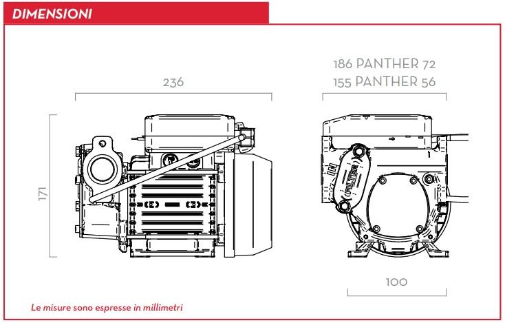Dimensioni Pompa per travaso gasolio 12v elettropompa Elettrica Automatica Autoadescante 56 l/min DC 220v 3.3 Bar