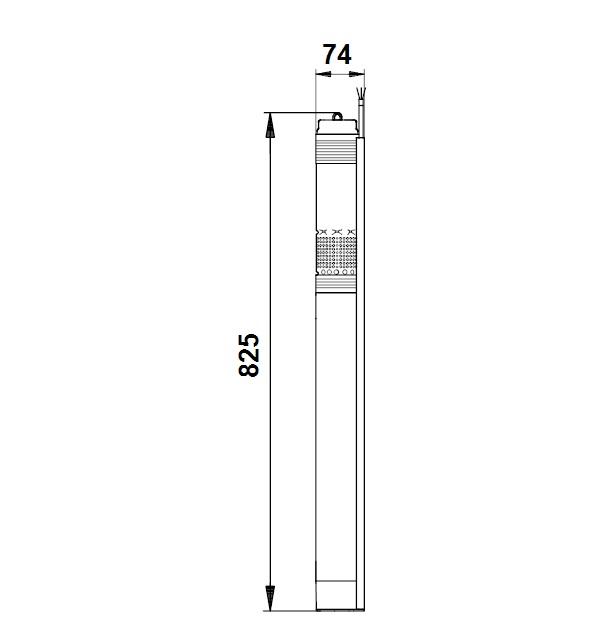 Dimensioni elettropompa sommersa 3 pollici SQ 3-65 Grundofs
