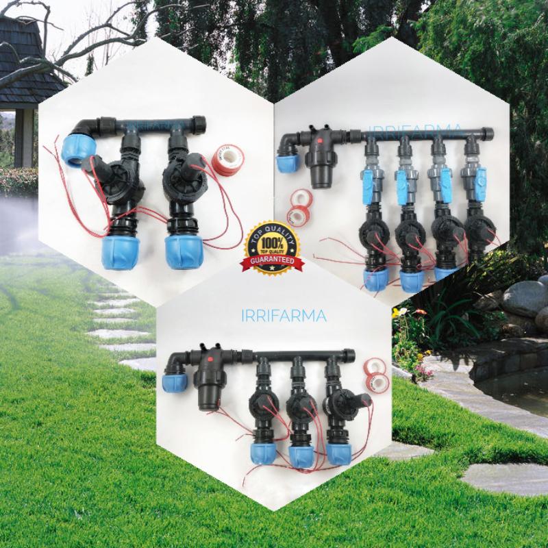 Kit irrigazione automatica a zone Personalizzato con programmatore centralina timer Toro hunter Rain centralina programmatore